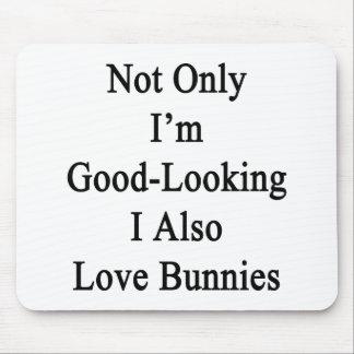 No sólo soy I apuesto también amo conejitos Alfombrilla De Ratón