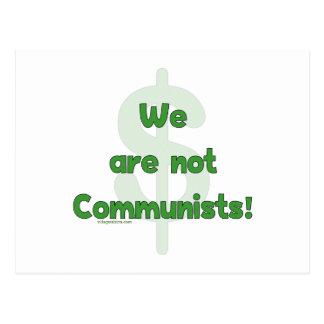 No somos comunistas postal