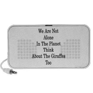 No somos solos en el planeta pensamos en el Gir Laptop Altavoces