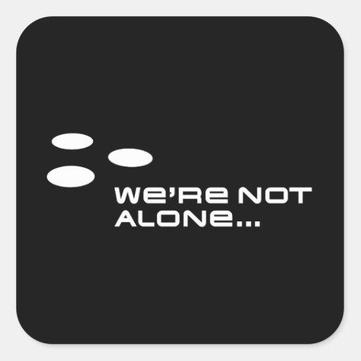 No somos solos… pegatina cuadrada