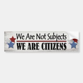 No somos temas que somos ciudadanos etiqueta de parachoque