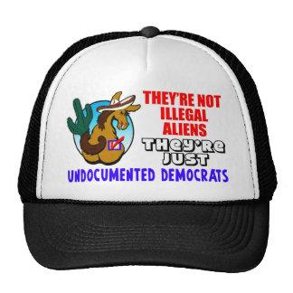No son inmigrantes ilegales gorras