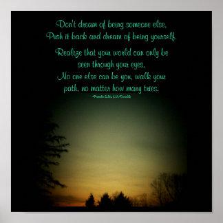 No soñe con ser algún otro… poster del poema