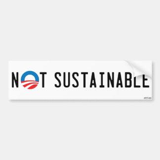 No sostenible pegatina de parachoque