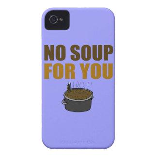 No Soup For You iPhone 4 Covers