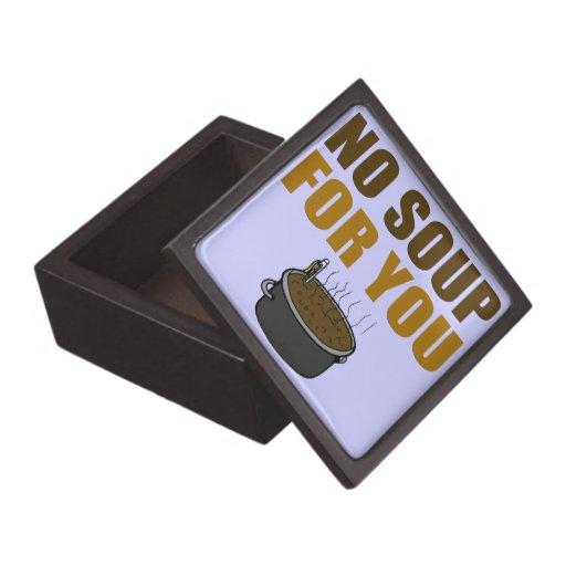 No Soup For You Premium Trinket Box