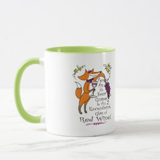 No Sour Grapes in this Exceptional Red Wine Mug