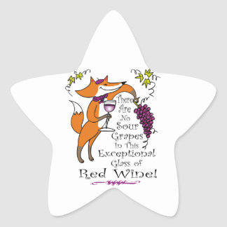 No Sour Grapes in this Exceptional Red Wine Star Sticker