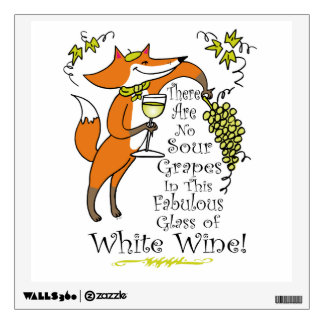 No Sour Grapes in this Fabulous White Wine Wall Sticker