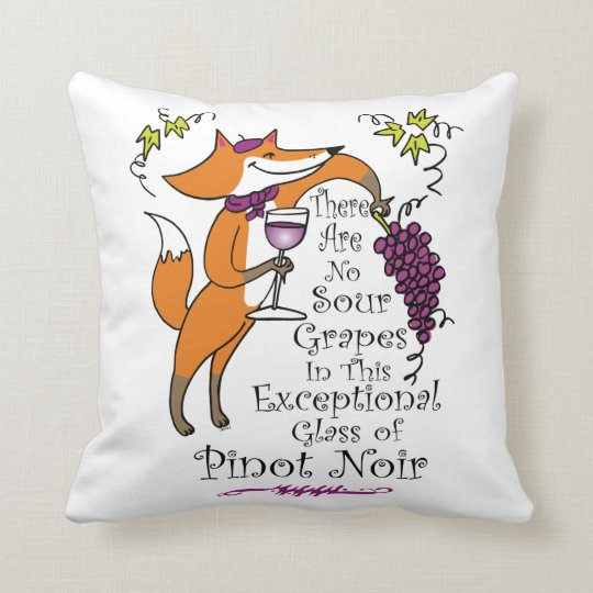 No Sour Grapes in this Pinot Noir and Pinot Grigio Throw Pillow