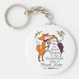 No Sour Grapes in this Pinot Noir! Basic Round Button Keychain