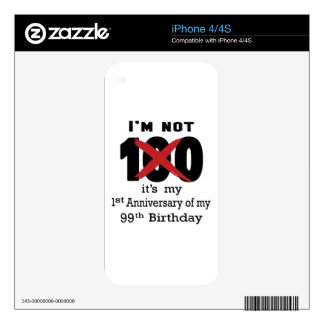 No soy 100 calcomanía para iPhone 4S