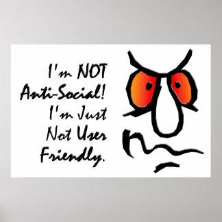 No soy (2) antisocial poster