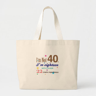 No soy 40 - regalo de cumpleaños divertido bolsa tela grande