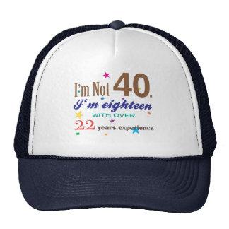 No soy 40 - regalo de cumpleaños divertido gorra
