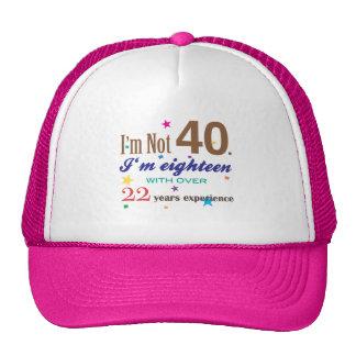 No soy 40 - regalo de cumpleaños divertido gorro de camionero