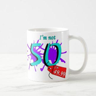 No soy 50 que soy texto de 49,99 pinturas taza