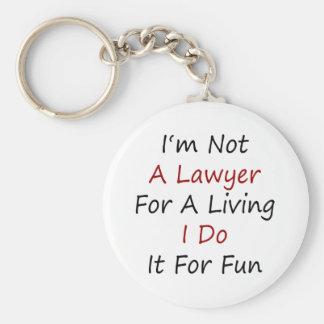 No soy abogado para la vida de A que la hago para  Llavero Redondo Tipo Pin