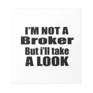 No soy agente sino que tomaré una mirada blocs de papel