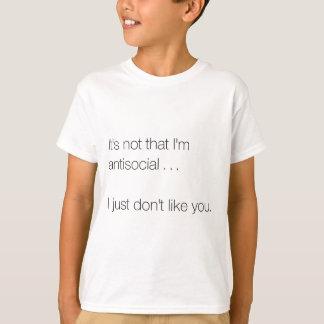 No soy antisocial camisas
