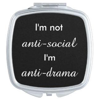 No soy antisocial. espejo maquillaje