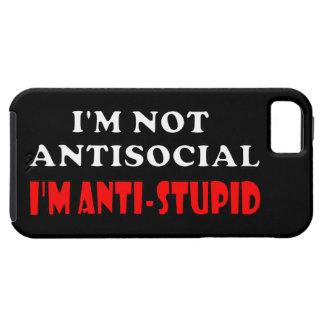 No soy antisocial yo soy Anti-Estúpido iPhone 5 Case-Mate Protector