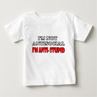 No soy antisocial yo soy Anti-Estúpido Playera De Bebé