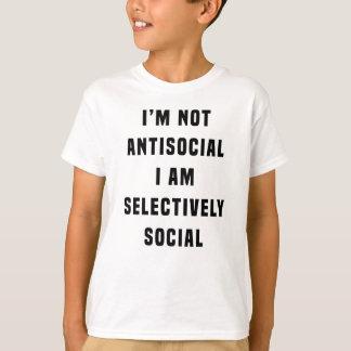 No soy antisocial, yo soy selectivamente social polera