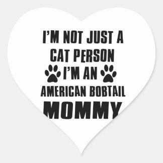 No soy apenas una persona del gato pegatina en forma de corazón