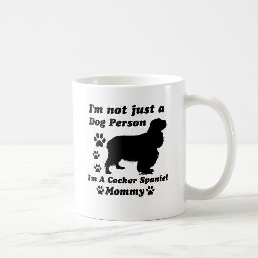No soy apenas una persona del perro; Soy cocker sp Tazas De Café