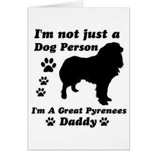 No soy apenas una persona del perro; Soy los grand Tarjeta De Felicitación