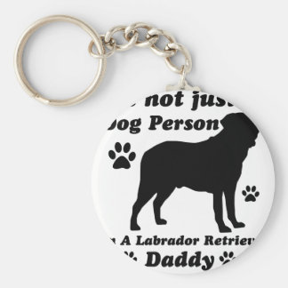 No soy apenas una persona del perro; Soy un Labrad Llavero Redondo Tipo Pin