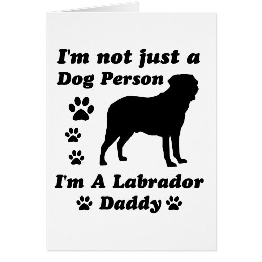 No soy apenas una persona del perro; Soy un papá d Tarjeta De Felicitación