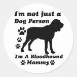 No soy apenas una persona del perro; Soy una mamá Pegatinas Redondas