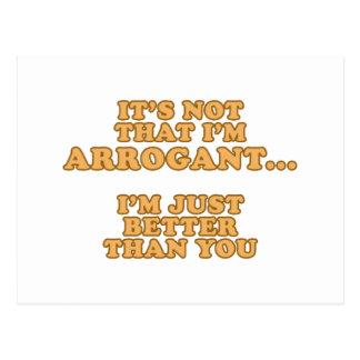 No soy arrogante postal