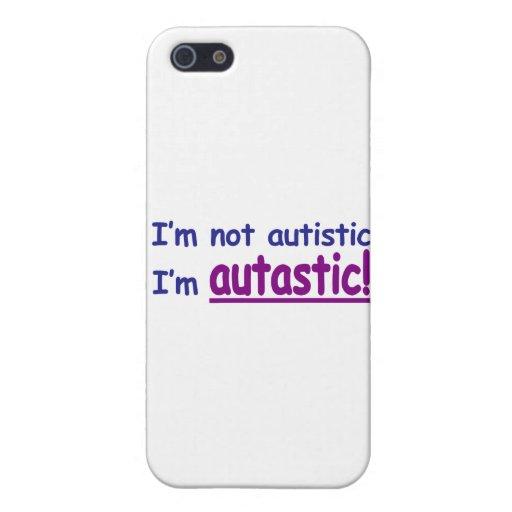 ¡No soy autístico yo soy Autastic! (Conciencia del iPhone 5 Fundas