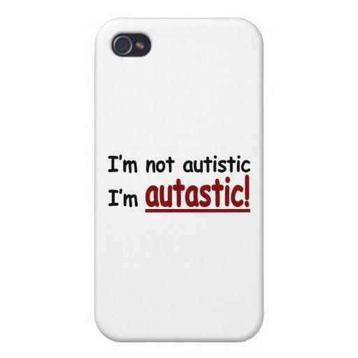 ¡No soy autístico yo soy Autastic! (Conciencia del iPhone 4/4S Funda