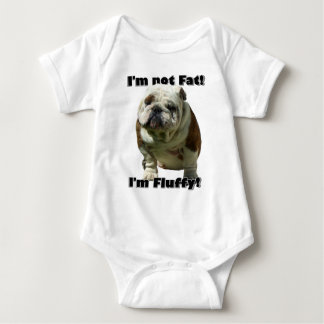 No soy bebé gordo del dogo body para bebé