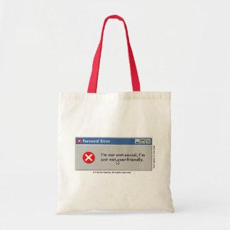 ¡No soy bolso de uso fácil! Bolsa Tela Barata