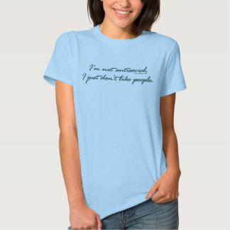 No soy camisetas antisociales camisas