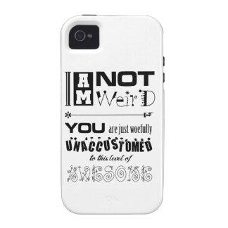 No soy caso universal del ambiente extraño del iPh Vibe iPhone 4 Carcasas