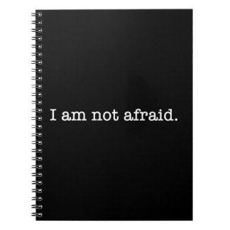 No soy cita inspirada asustada del valor libro de apuntes con espiral