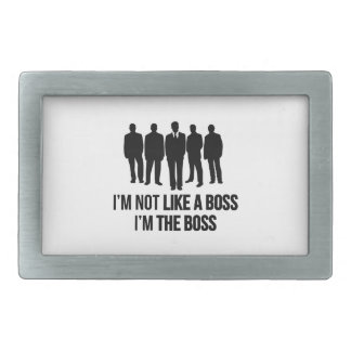 No soy como Boss. Soy el jefe Hebilla De Cinturon Rectangular