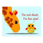 No soy corto, yo soy postal divertida del tamaño d
