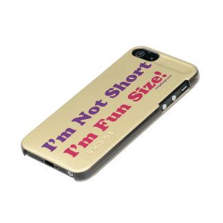 ¡No soy corto, yo soy tamaño de la diversión! Funda Para iPhone 5 Incipio Feather Shine