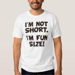No soy corto yo soy tamaño de la diversión remera