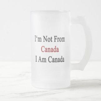 No soy de Canadá que soy Canadá Taza Cristal Mate