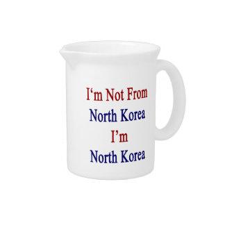 No soy de Corea del Norte que soy Corea del Norte Jarrón