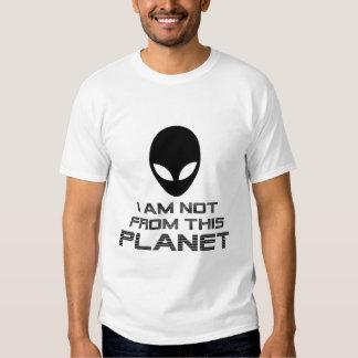 No soy de este extranjero del planeta playeras