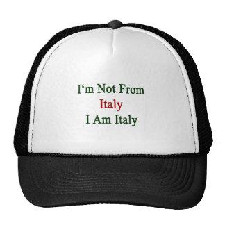 No soy de Italia que soy Italia Gorras De Camionero